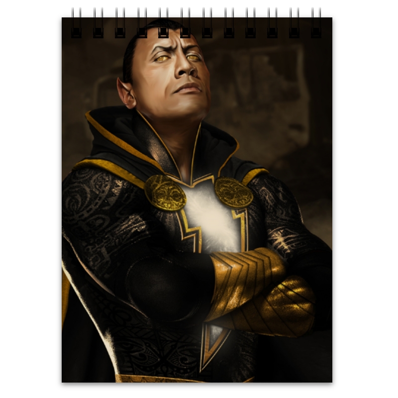 Блокнот Printio Black adam before adam