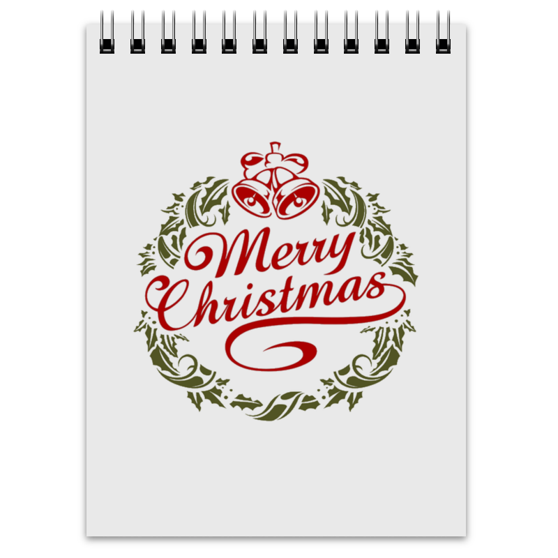 Блокнот Printio Merry christmas scrapbook diy photo cards account rubber stamp clear stamp finished transparent chapter merry bright christmas 19 5x23 5cm sd162