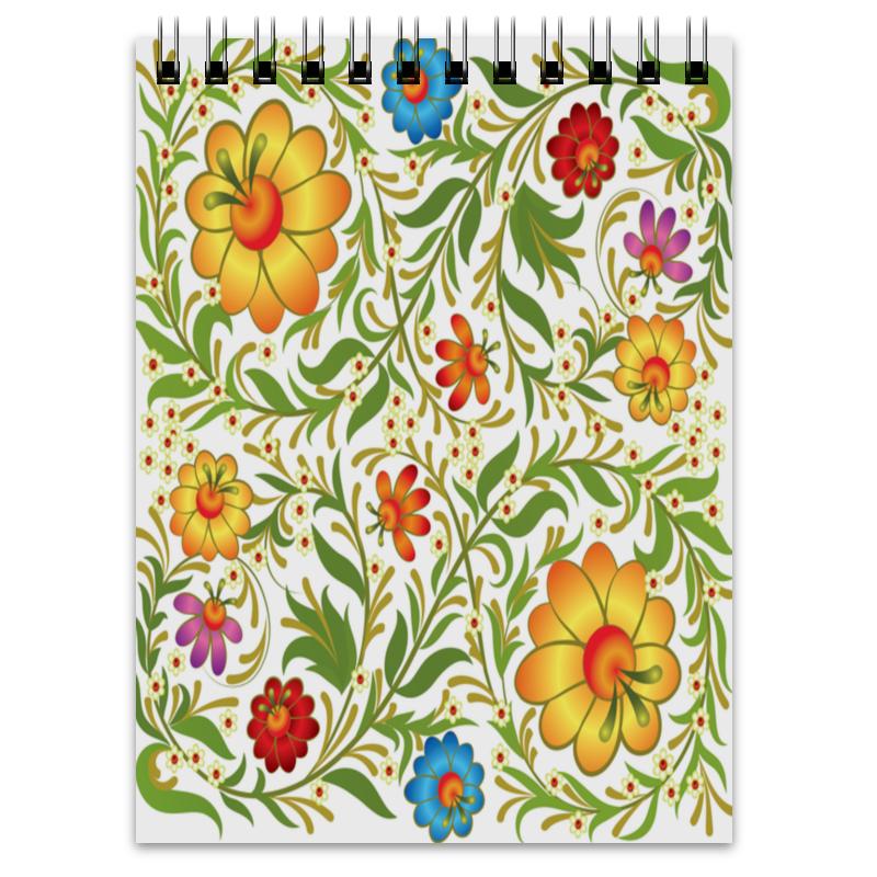 Блокнот Printio Цветочный узор блокнот printio цветочный горшок с луком