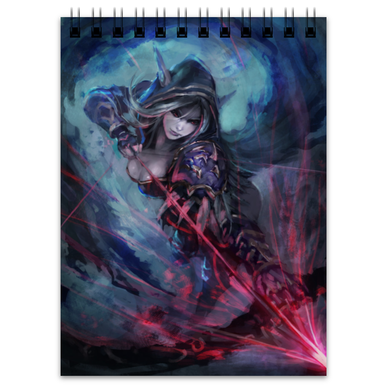 Блокнот Printio Sylvanas windrunner game wow lich king sylvanas windrunner figma anime darkness ranger lady pvc action figure toy brinquedos kids birthday toys 6