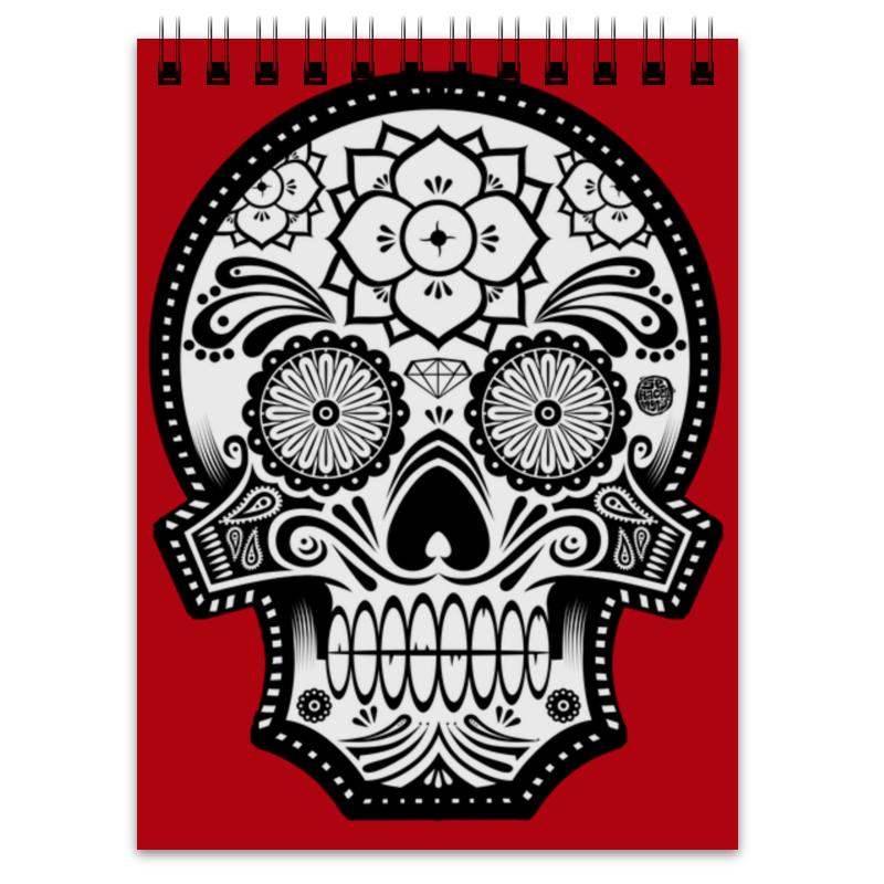 Блокнот Printio Santa muerte skull