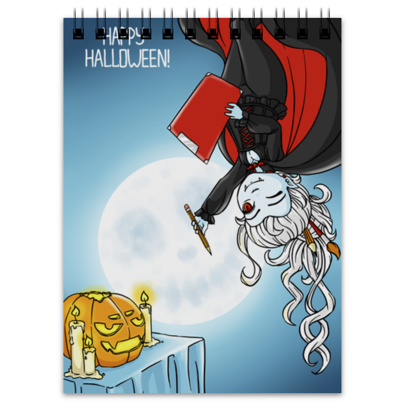 Блокнот Printio Художник-вампир маска чулок вампир uni
