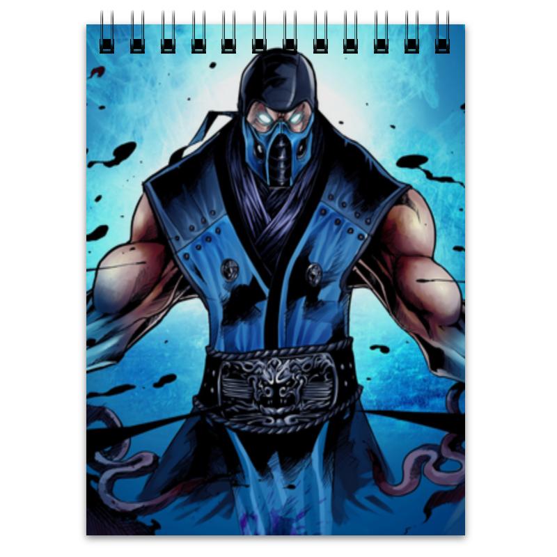 Блокнот Printio Mortal kombat x (sub-zero) видеоигра для ps4 mortal kombat x