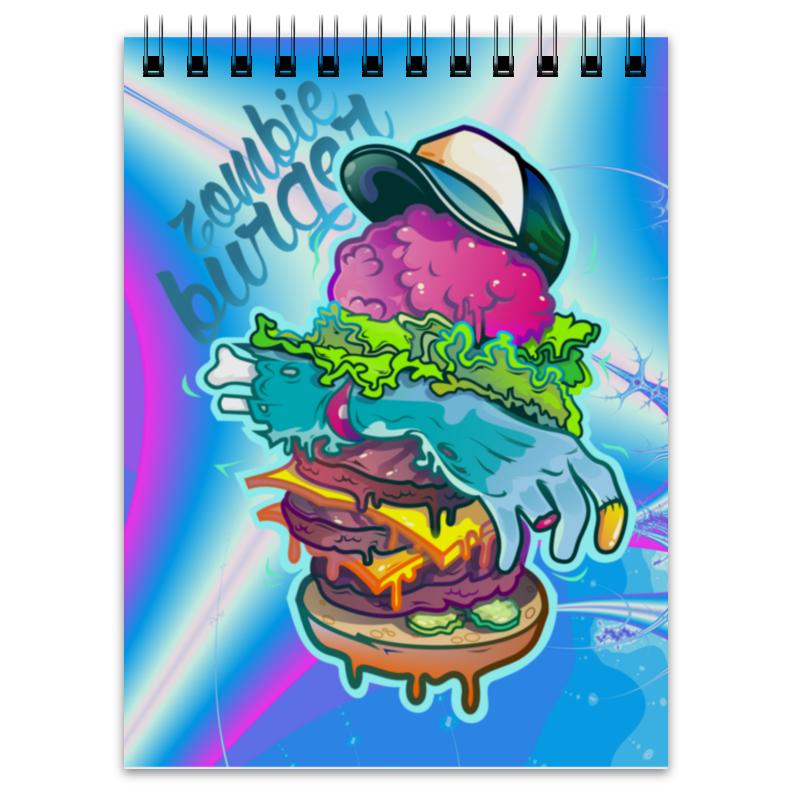 Блокнот Printio Zombie burger блокнот printio цунами