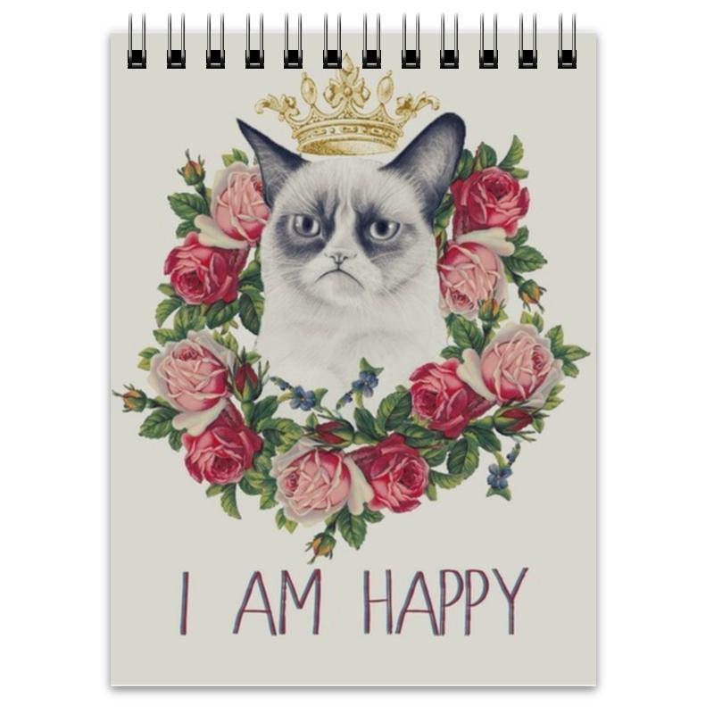 Блокнот Printio Grumpy cat grumpy gardener