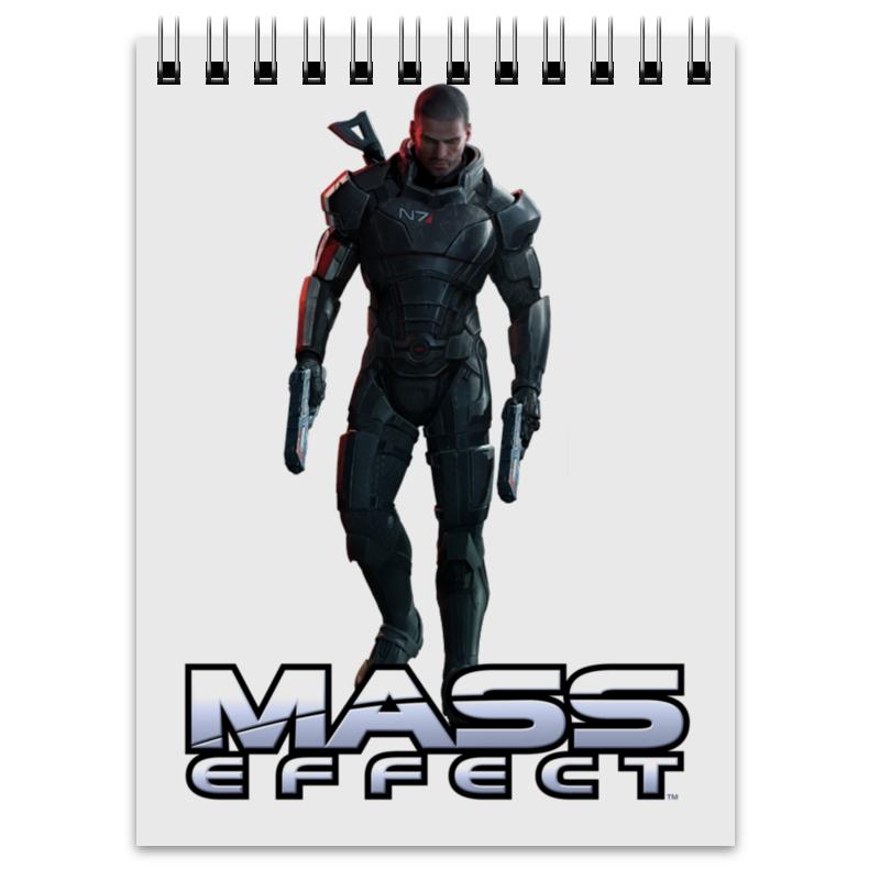 Блокнот Printio Mass effect (shepard) обложка для паспорта printio mass effect