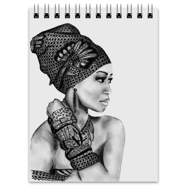 Блокнот Printio Портрет девушки карандашом блокнот printio николай гоголь портрет работы фёдора моллера