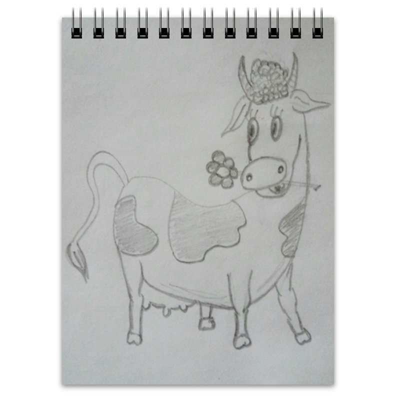 Блокнот Printio Веселая коровка цена