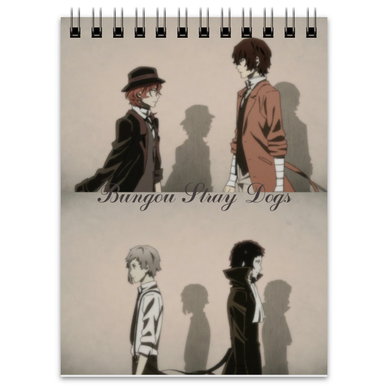 Блокнот Printio Bungou stray dogs battersea dogs