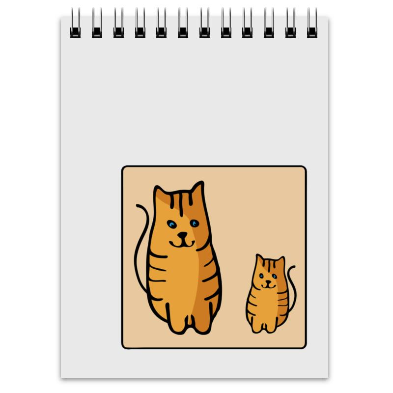 Блокнот Printio Два котика, смотрящие друг на друга неизвестный друг