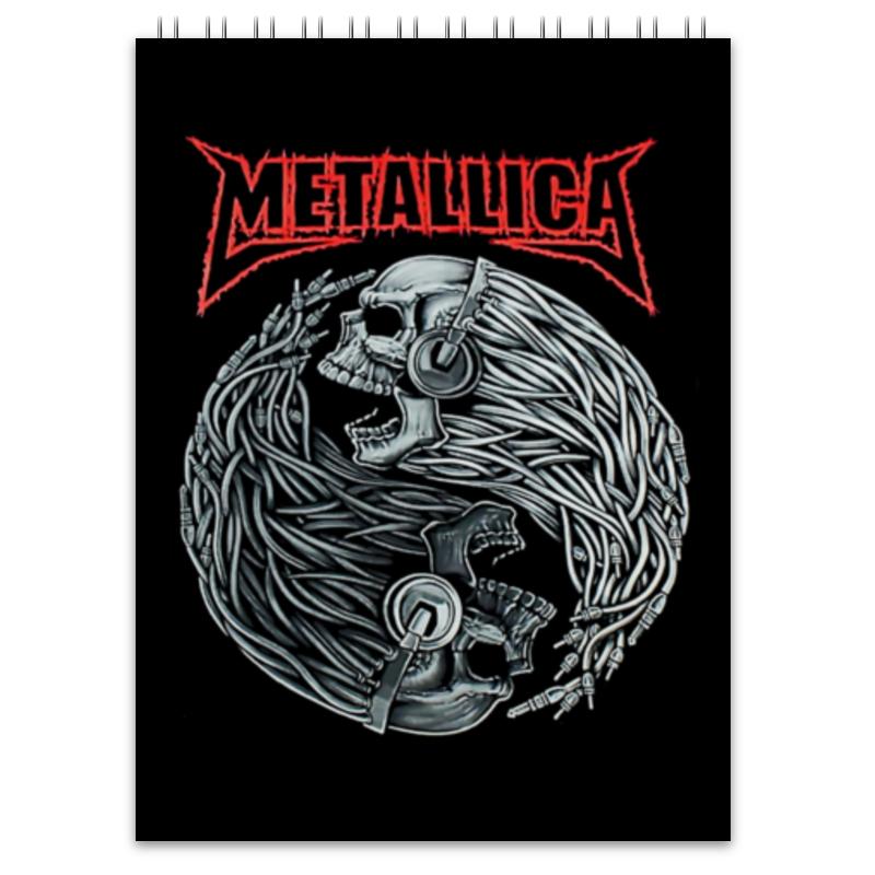 Блокнот Printio Metallica блокнот printio сонный блокнот