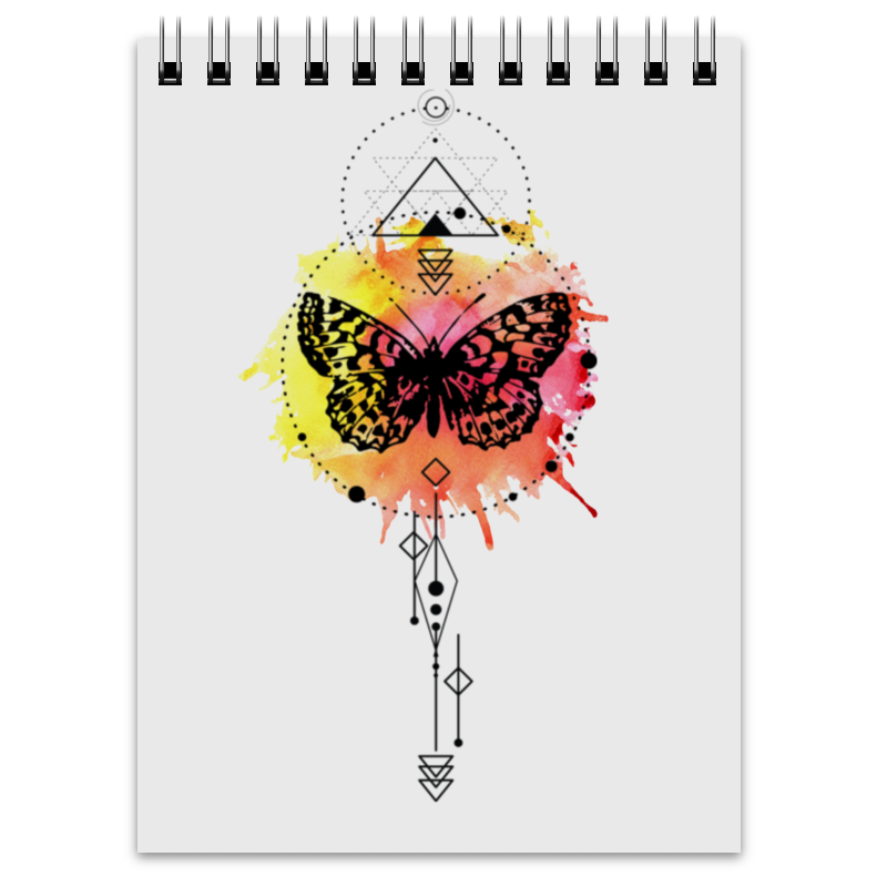 Блокнот Printio Блокнот butterfly abstract geometry блокнот falafel books a6 geometry 403782