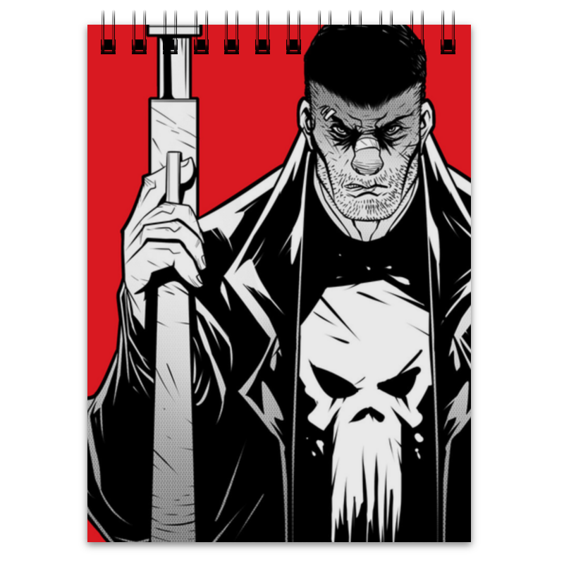 Блокнот Printio Каратель (the punisher) тетрадь на клею printio каратель the punisher