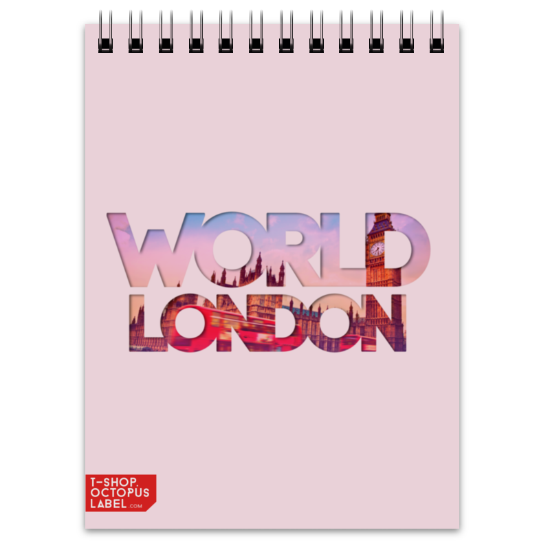 Блокнот Printio different world: london блокнот printio different world madrid