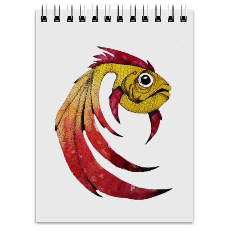 Блокнот Printio Золотая рыбка отсутствует золотая книга богатого урожая