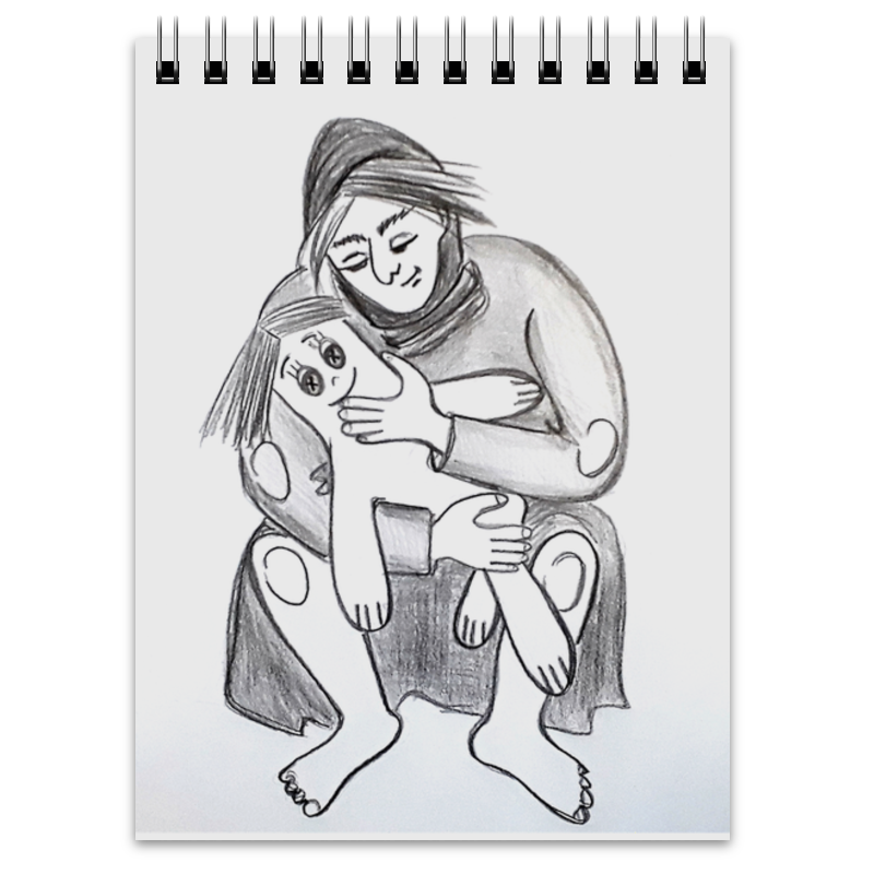 Блокнот Printio Мать. женщина и кукла цена