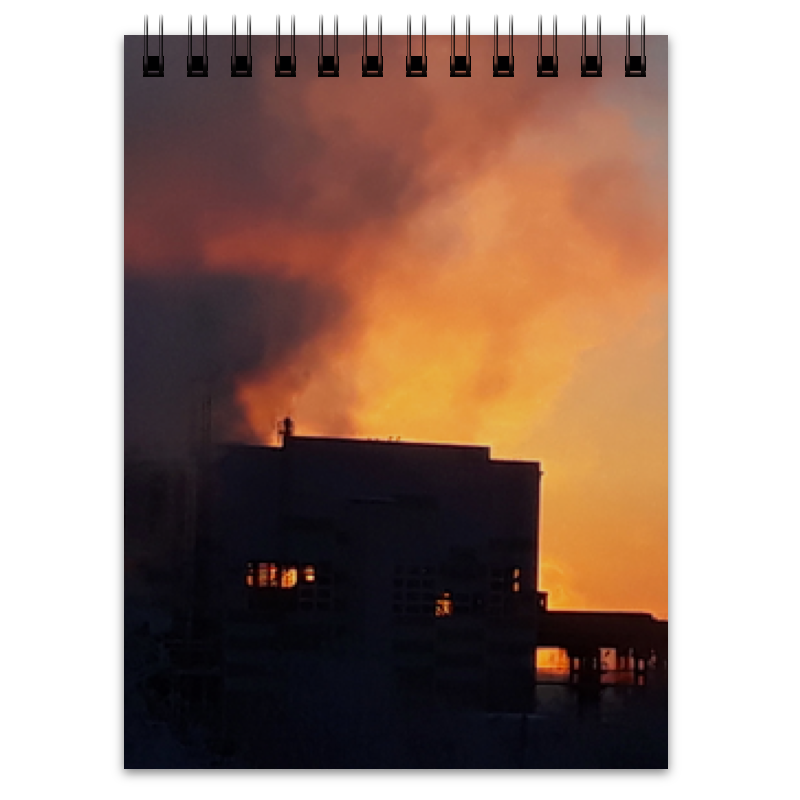 Блокнот Printio Рассвет, похожий на пожар кожин о рассвет
