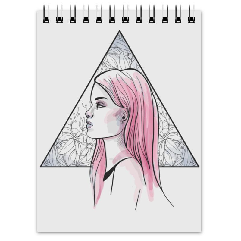 Printio Модная современная девушка в треугольнике
