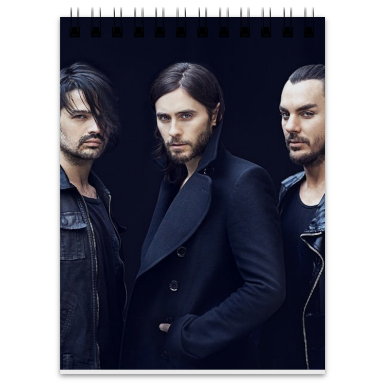 Фото Блокнот Printio 30 seconds to mars