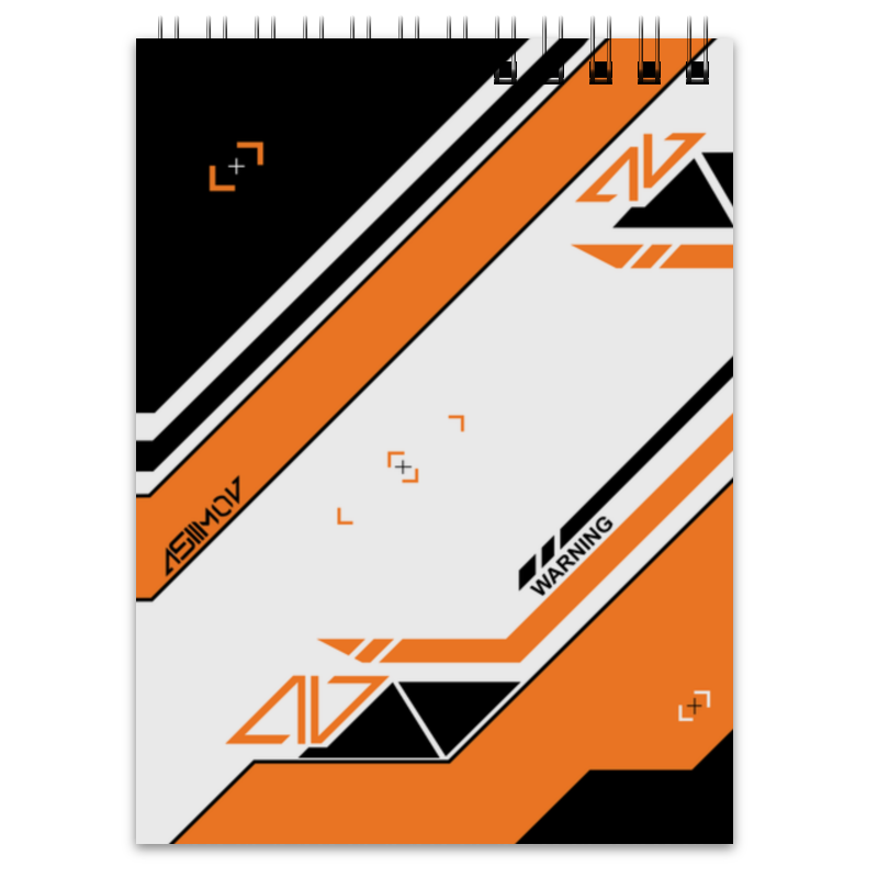 Блокнот Printio Azimov худи print bar cs go asiimov black