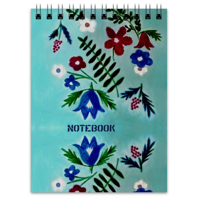 Блокнот Printio Цветы на голубом отсутствует цветы