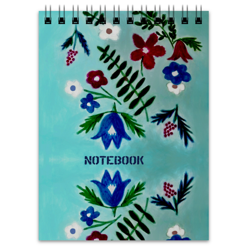 Блокнот Printio Цветы на голубом