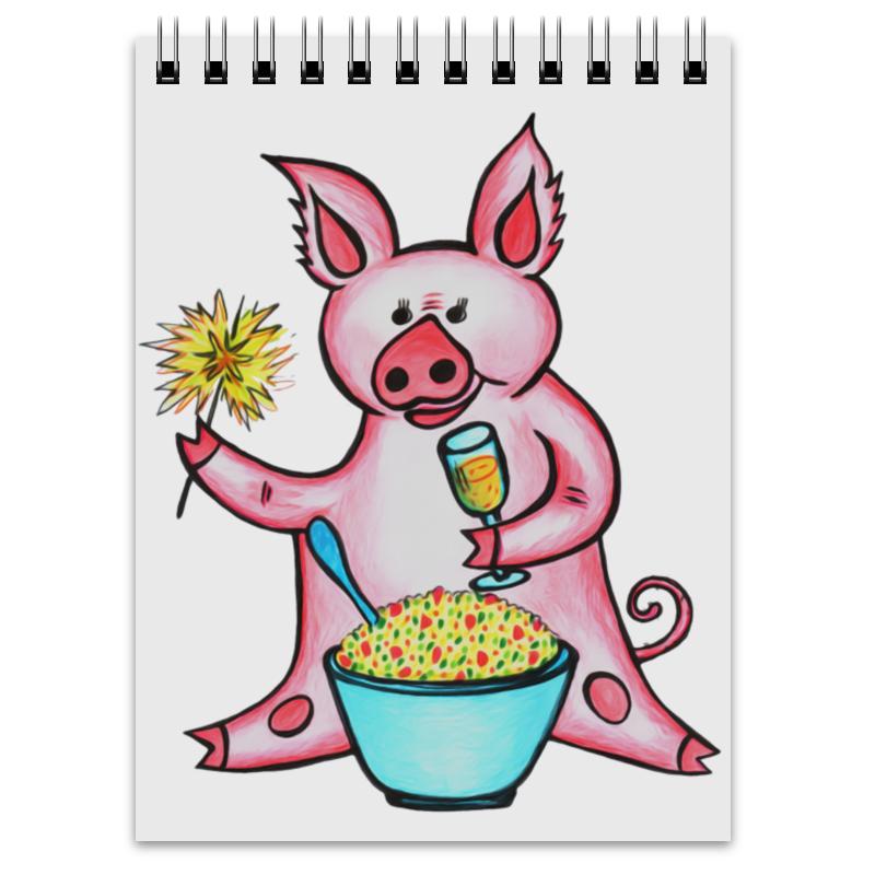Блокнот Printio Год свиньи неволайнен л ред арт блокнот год петуха