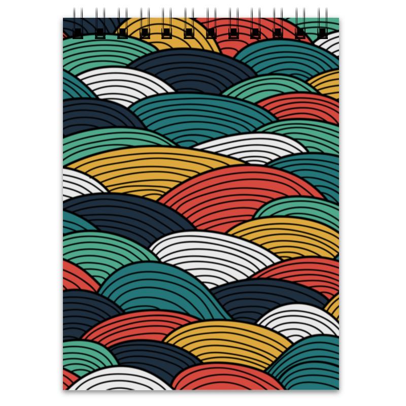 Блокнот Printio Цветные волны платье летнее printio волны