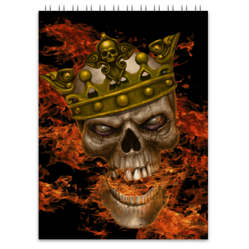 Блокнот Printio King skull блокнот printio king skull