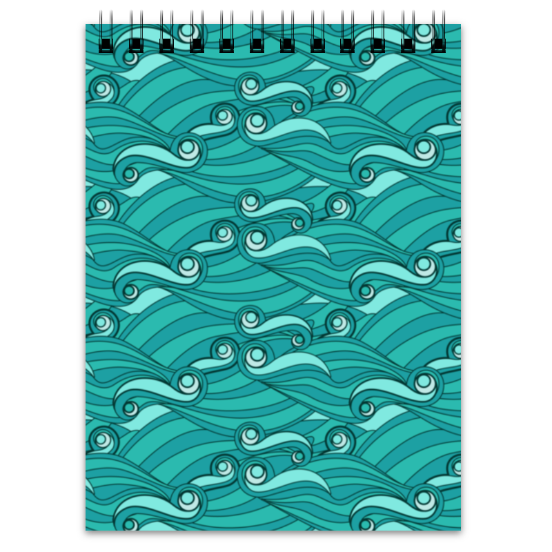 Блокнот Printio Зелёные волны