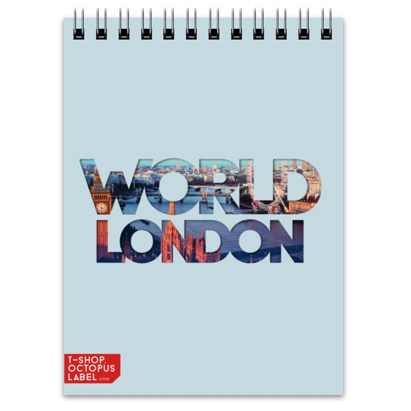 Блокнот Printio different world: london ozuna london