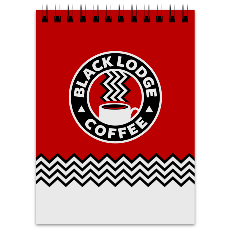 Блокнот Printio Твин пикс. black lodge coffee кружка printio твин пикс black lodge coffee