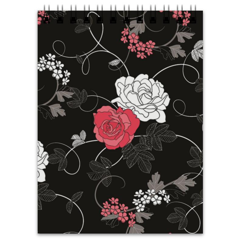 Блокнот Printio Красная и белая розы платье без рукавов printio розы на чёрном