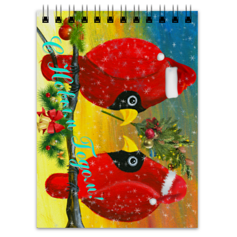 Блокнот Printio Новый год на ветке