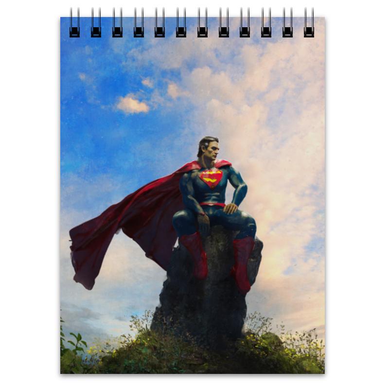 Блокнот Printio Супермен (superman) детский свитшот унисекс printio свинка пеппа