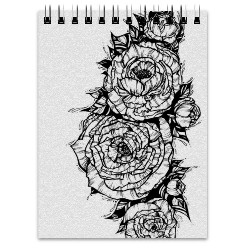 Блокнот Printio Flowers блокнот кофемана нежные цветы