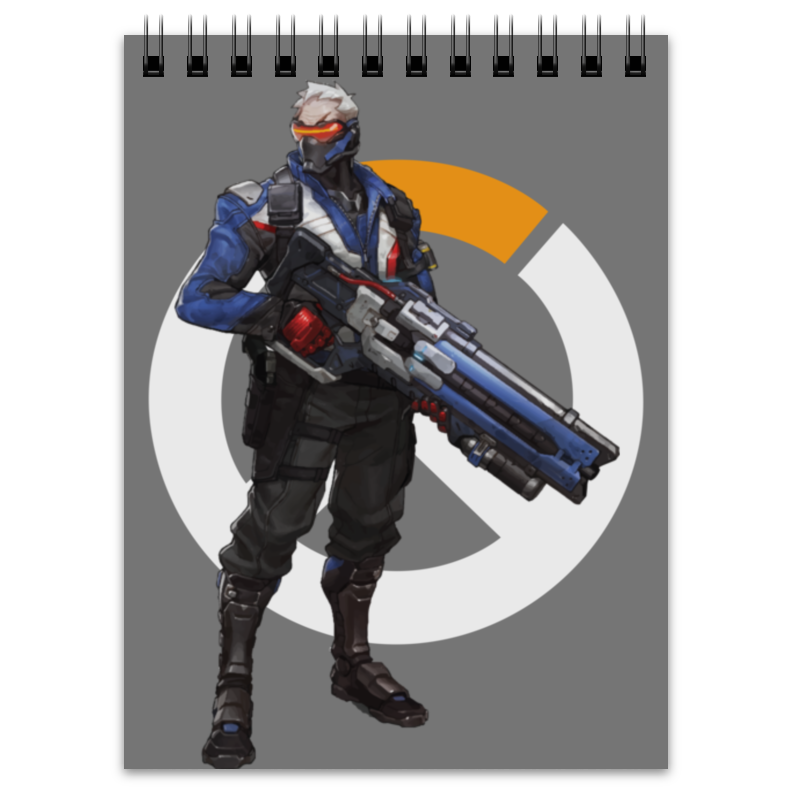 Блокнот Printio Overwatch soldier 76 / овервотч солдат 76