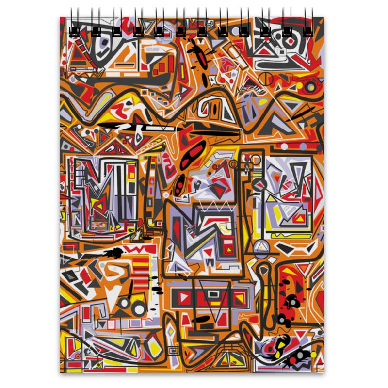 Блокнот Printio Оранжевый дом. блокнот кассета цвет черный оранжевый 003235