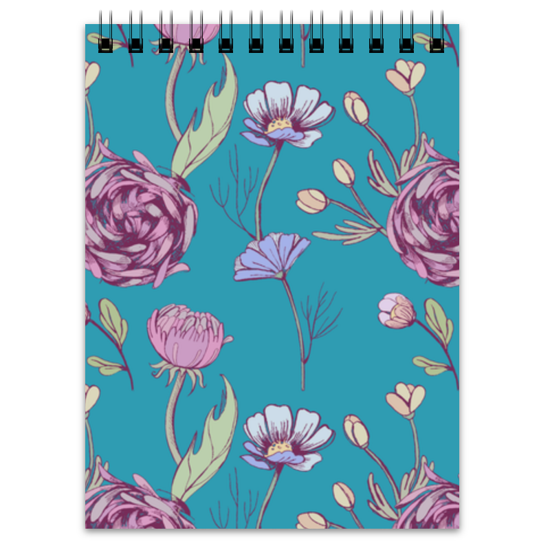 Блокнот Printio Цветочное настроение раскрась меня блокнот от зоуи кифер цветочное настроение