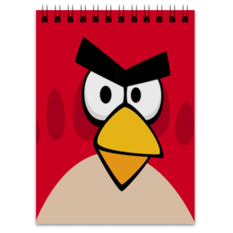 Блокнот Printio Angry birds (terence) stylish waterproof angry eyes pattern car sticker for automotive decorative supplies
