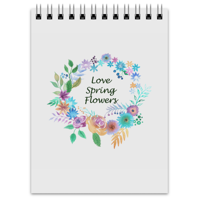 Блокнот Printio Love spring flowers блокнот printio doodle love