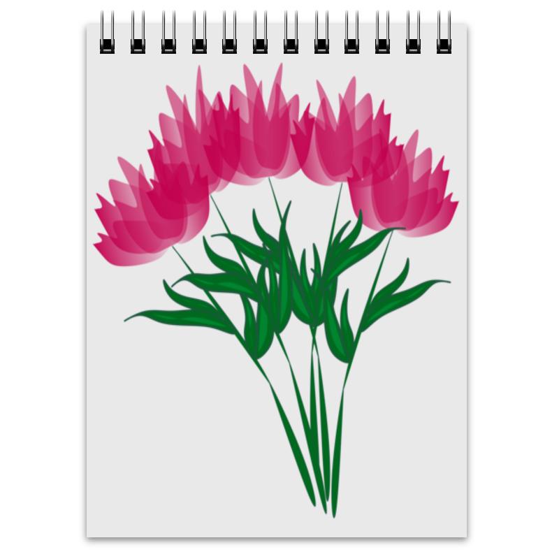 Блокнот Printio Розовые абстрактные цветы невидимка для волос funny bunny розовые цветы 2 шт