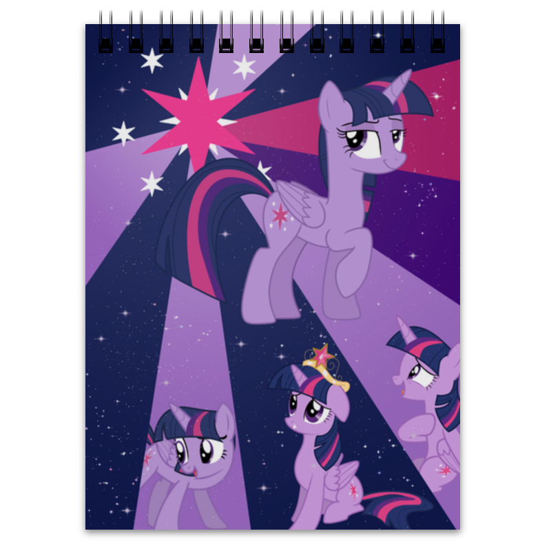 Блокнот Printio Princess twilight sparkle color line