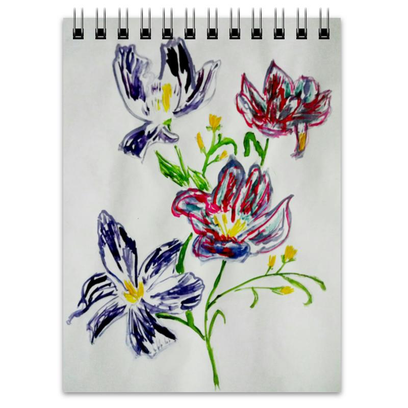 Блокнот Printio Лиловые цветы