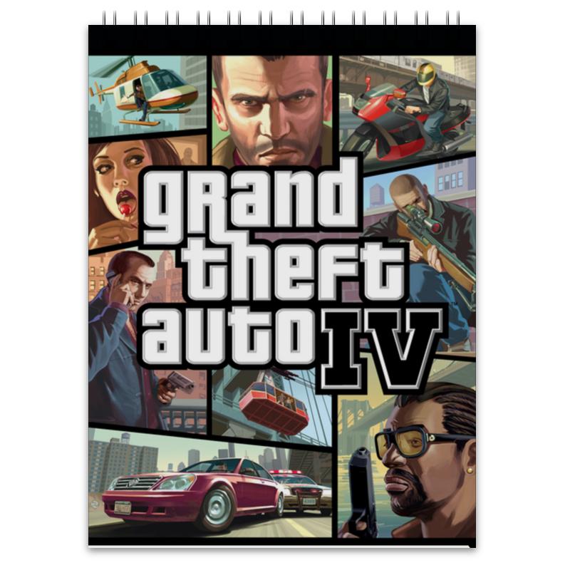 Блокнот Printio Grand theft auto 4 игра софтклаб grand theft auto iv