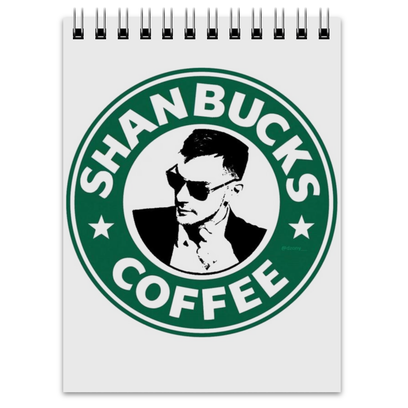 Блокнот Printio Shanbucks coffee printio блокнот