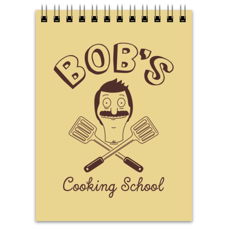 Блокнот Printio Bob's cooking school. бургеры боба