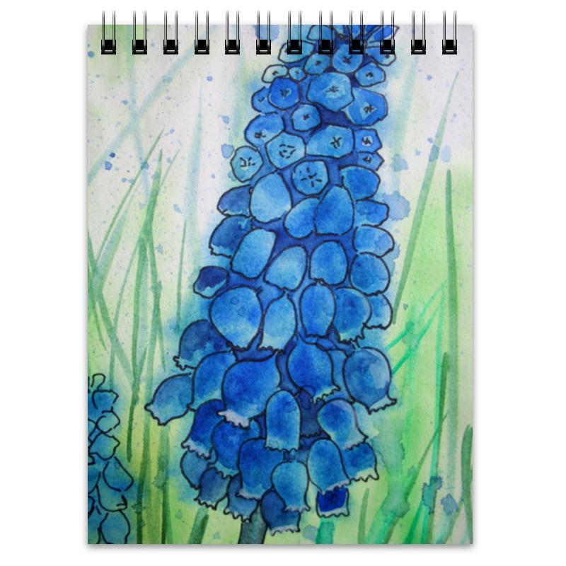 Блокнот Printio Синий цветок.