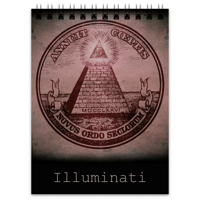Блокнот Printio Illuminati illuminati бра illuminati kate mb72717 2a