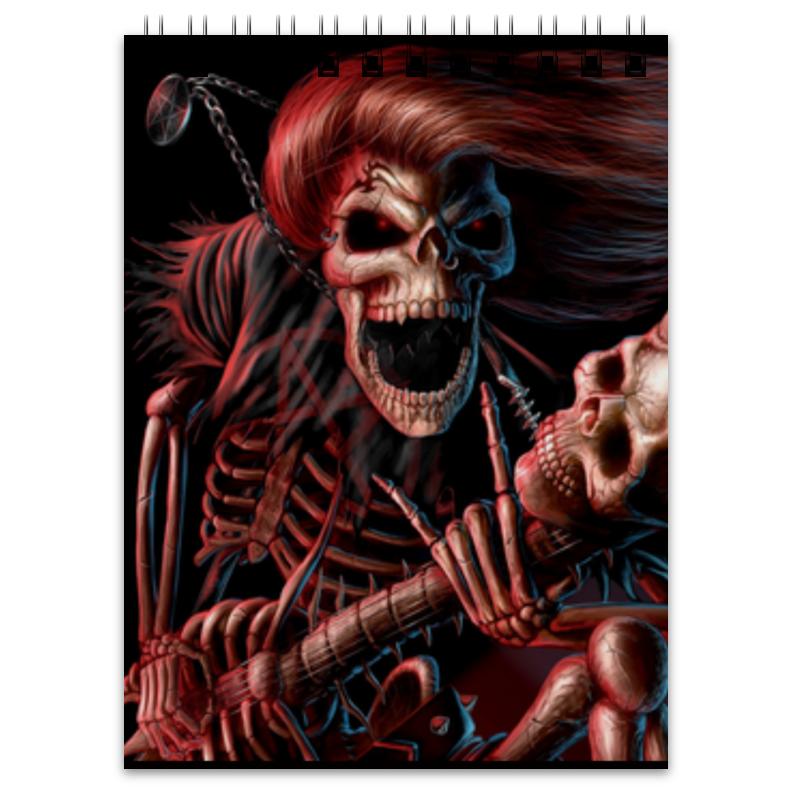 Блокнот Printio Смерть с гитарой